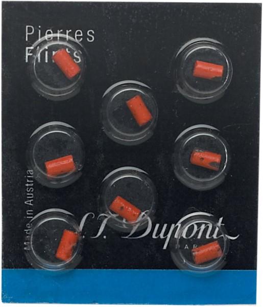 S.T. Dupont Feuerstein Rot im 8er Pack