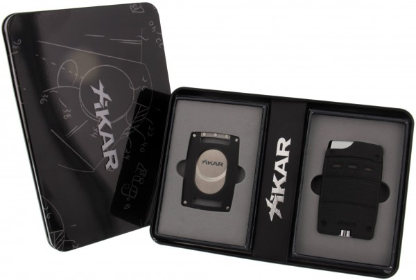 Xikar Ultra Combo Single Jet Wrinkle Black
