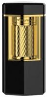 Xikar Meridian Triple Soft Flame Schwarz Gold Innovation und Funktion in purer Eleganz