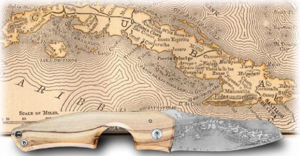 Les Fines Lames Le Petit Compass Series Cuba Zigarrenmesser Olivenholz