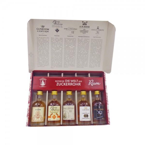Die Welt aus Zuckerrohr Premium Rum Set 5 x 50 ML